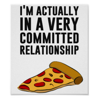 Pepperoni Pizza Love - A Serious Relationship Poster