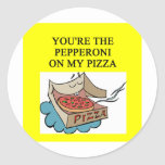 pepperoni pizza lover classic round sticker