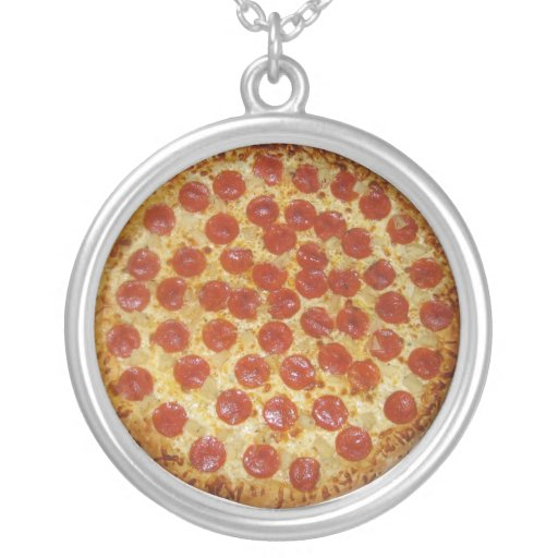 Pepperoni Pizza Personalized Necklace