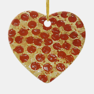 Pepperoni Pizza Christmas Tree Ornament