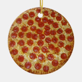 Pepperoni pizza christmas ornament