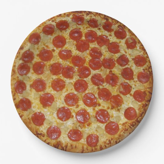 Pepperoni Pizza Paper Plate  sc 1 st  Zazzle & Pepperoni Pizza Paper Plate | Zazzle.com