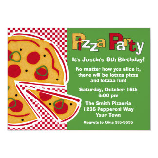 Pepperoni Pizza Party Card