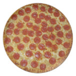 Pepperoni pizza party plate