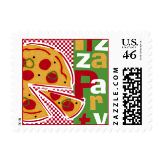 Pepperoni Pizza Party Postage