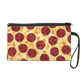 Pepperoni Pizza Pattern Wristlet Purse