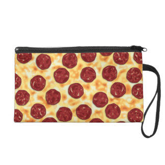 Pepperoni Pizza Pattern Wristlet Purses
