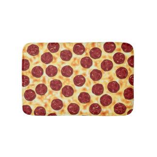 Pepperoni Pizza Pattern Bath Mats