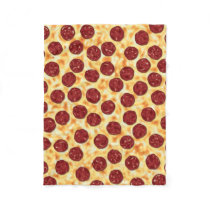 Pepperoni Pizza Pattern Fleece Blanket