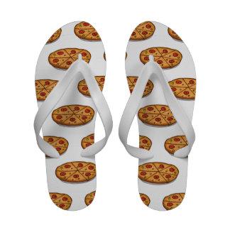 Pepperoni Pizza Pattern; Italian Food Flip-Flops