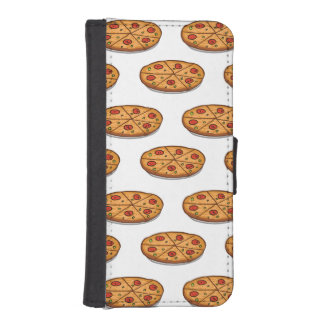 Pepperoni Pizza Pattern; Italian Food iPhone 5 Wallet Cases