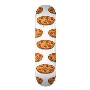 0dbf025c6dea0b Pepperoni Pizza Pattern; Italian Food Skateboard Deck