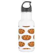 Pepperoni Pizza Pattern; Italian Food Water Bottle