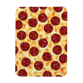 Pepperoni Pizza Pattern Magnet