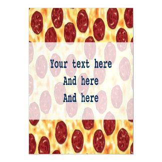Pepperoni Pizza Pattern Magnetic Card