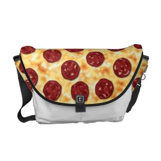 Pepperoni Pizza Pattern Messenger Bag