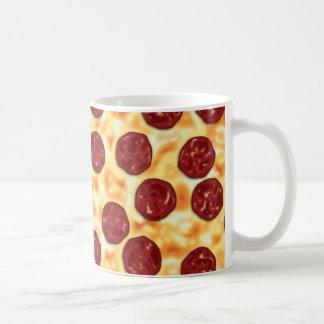 Pepperoni Pizza Pattern Classic White Coffee Mug