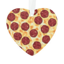 Pepperoni Pizza Pattern Ornament