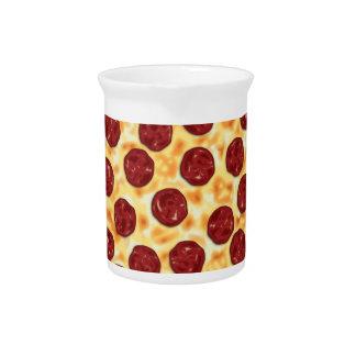 Pepperoni Pizza Pattern Beverage Pitchers