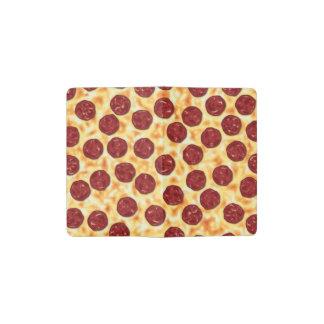 Pepperoni Pizza Pattern Pocket Moleskine Notebook