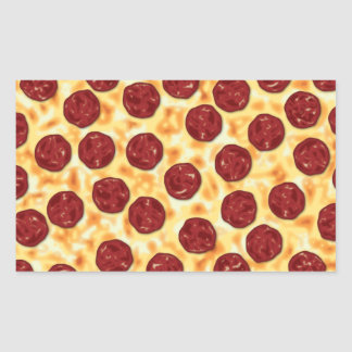 Pepperoni Pizza Pattern Rectangular Sticker