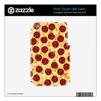 Pepperoni Pizza Pattern Skin For iPod Touch 4G