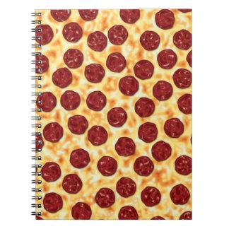 Pepperoni Pizza Pattern Spiral Notebook