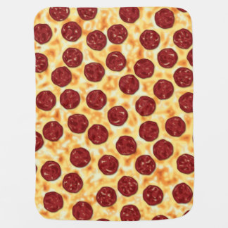 Pepperoni Pizza Pattern Swaddle Blanket