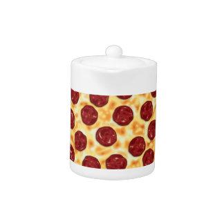 Pepperoni Pizza Pattern Teapot