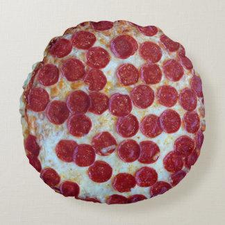 Pepperoni Pizza Photo Round Pillow