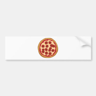 Pepperoni Pizza Pie Bumper Sticker