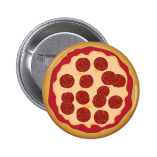 Pepperoni Pizza Pie Pinback Buttons
