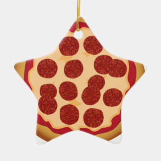 Pepperoni Pizza Pie Christmas Tree Ornaments