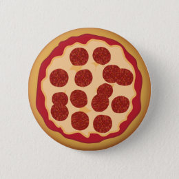 Pepperoni Pizza Pie Pinback Button
