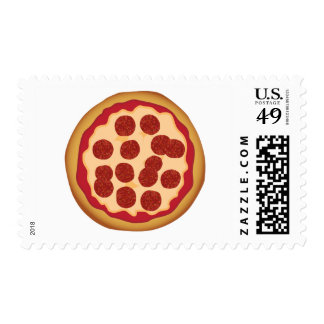 Pepperoni Pizza Pie Postage Stamps