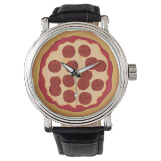 Pepperoni Pizza Pie Wrist Watches