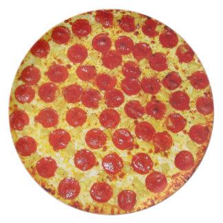 Pepperoni Pizza Plate