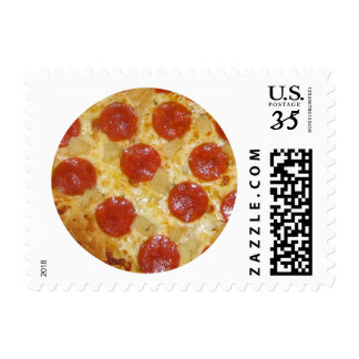 Pepperoni Pizza postage stamps