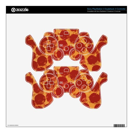 Pepperoni Pizza PS3 Controller Decal
