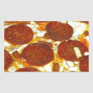Pepperoni Pizza Rectangular Sticker
