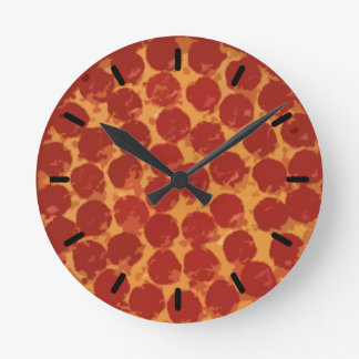 Pepperoni Pizza Round Clock
