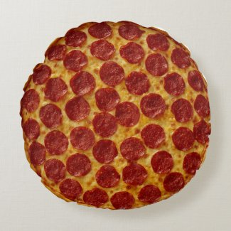Pepperoni Pizza Round Pillow
