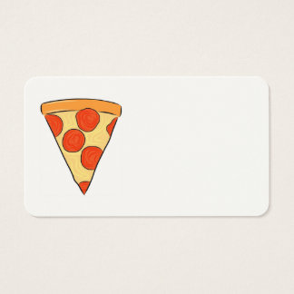 Pepperoni Pizza Slice Classic New York Style Pizza Business Card
