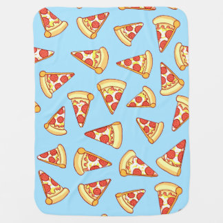 Pepperoni Pizza Slice Drawing Pattern Baby Blanket