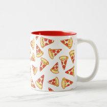 Pepperoni Pizza Slice Drawing Pattern Mug
