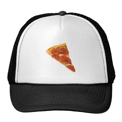 Pepperoni Pizza Slice Mesh Hats