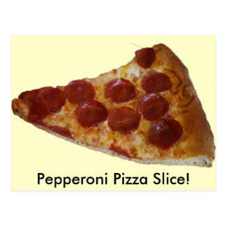 Pepperoni Pizza Slice Postcard