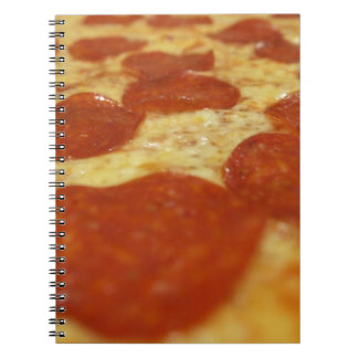 pepperoni pizza spiral notebook