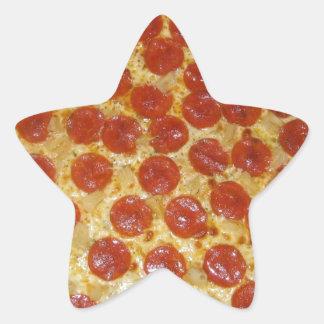 Pepperoni pizza star sticker