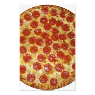 Pepperoni pizza stationery